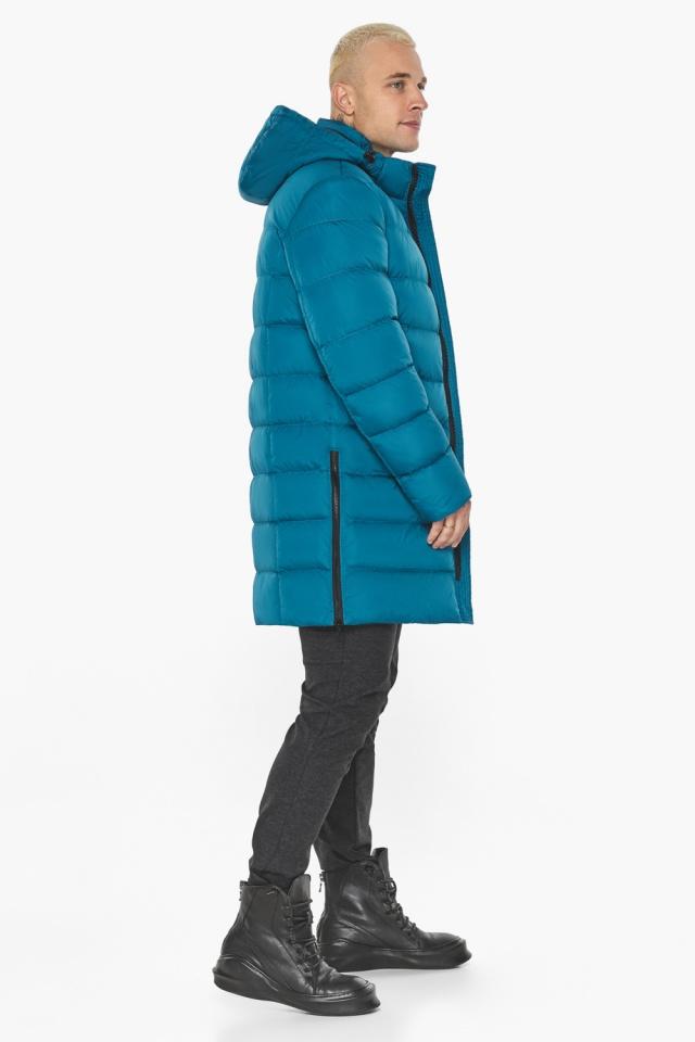 """Бирюзовая куртка мужская модная для зимы модель 49032 Braggart """"Aggressive"""" фото 6"""
