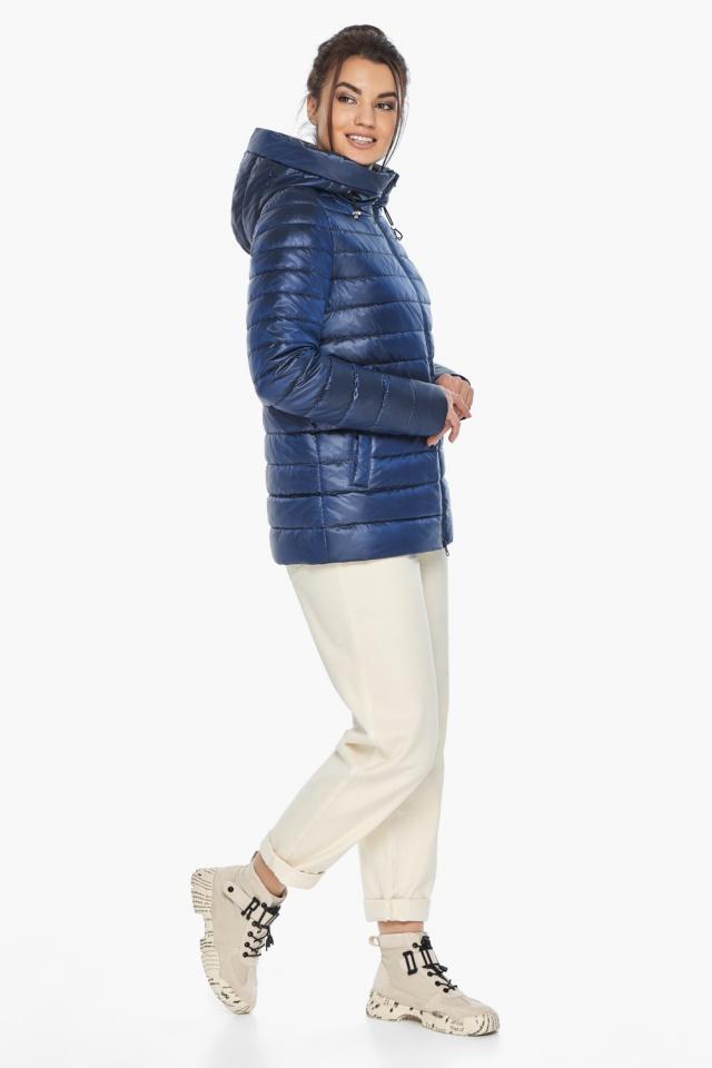"""Куртка стильная женская осенне-весенняя сапфировая модель 68240 Braggart """"Angel's Fluff"""" фото 5"""