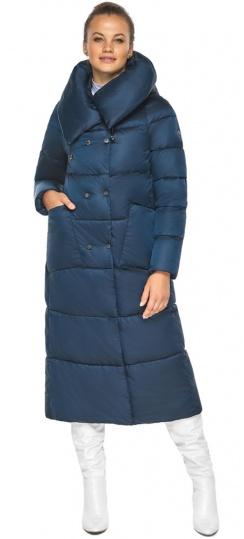 """Куртка сапфировая женская зимняя с манжетами модель 46150 Braggart """"Angel's Fluff"""" фото 1"""