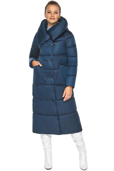 """Куртка сапфірова жіноча зимова з манжетами модель 46150 Braggart """"Angel's Fluff"""" фото 1"""
