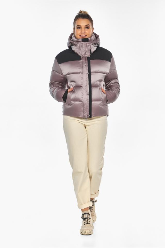 """Куртка пудровая с капюшоном женская зимняя модель 57520 Braggart """"Angel's Fluff"""" фото 2"""