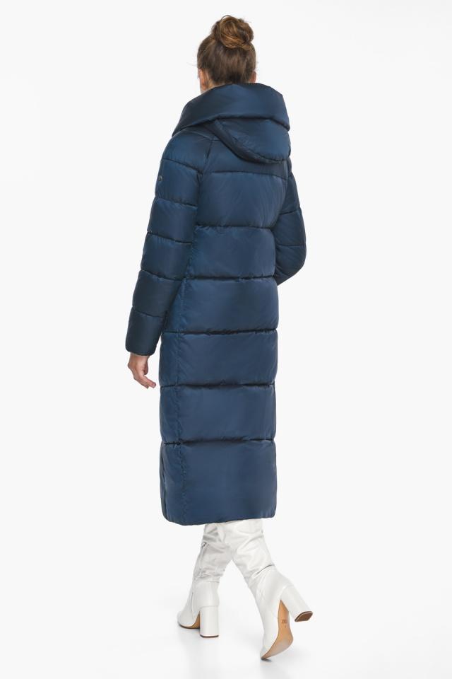 """Куртка сапфировая женская зимняя с манжетами модель 46150 Braggart """"Angel's Fluff"""" фото 8"""