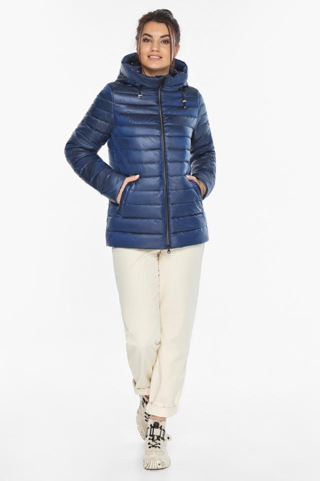 """Куртка стильная женская осенне-весенняя сапфировая модель 68240 Braggart """"Angel's Fluff"""" фото 2"""