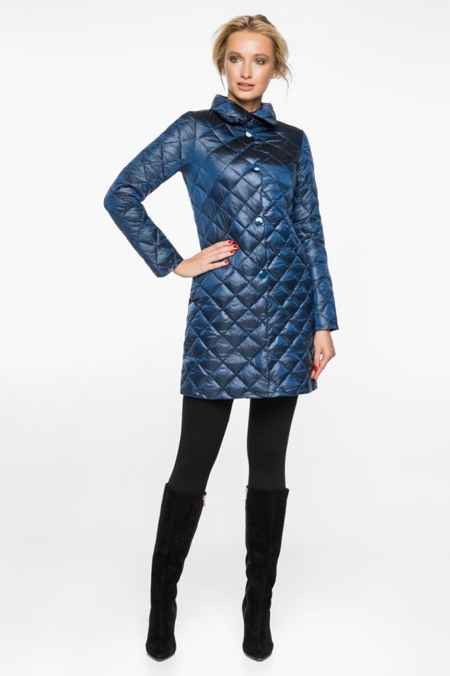 """Куртка жіноча оригінальна осінньо-весняна колір темна блакить модель 20856 Braggart """"Angel's Fluff"""" фото 4"""