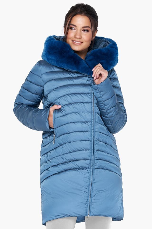 """Куртка аквамариновая женская свободного фасона модель 31038 Braggart """"Angel's Fluff"""" фото 3"""