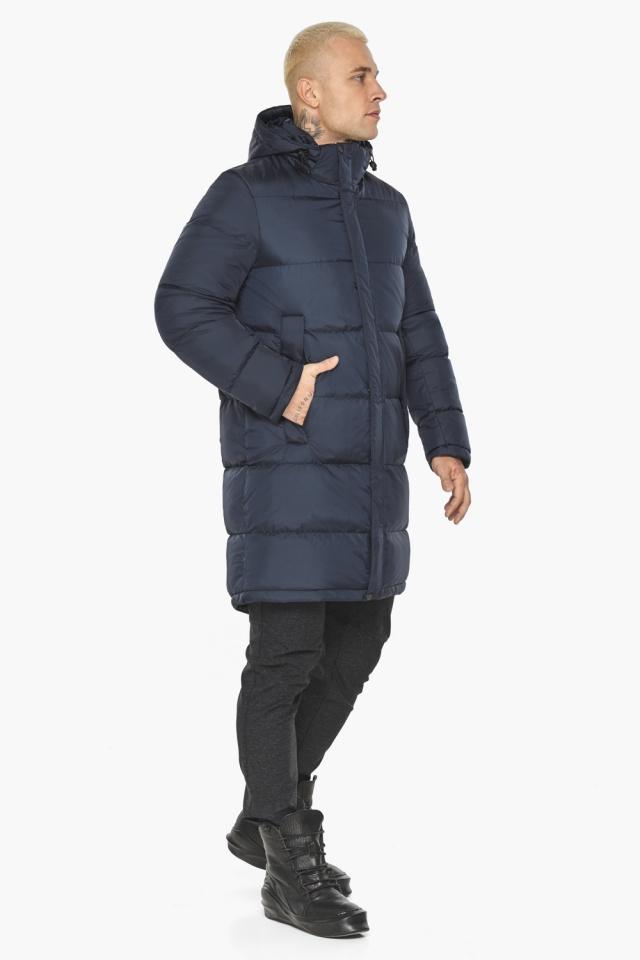 """Куртка мужская зимняя брендовая тёмно-синяя модель 49015 Braggart """"Aggressive"""" фото 5"""
