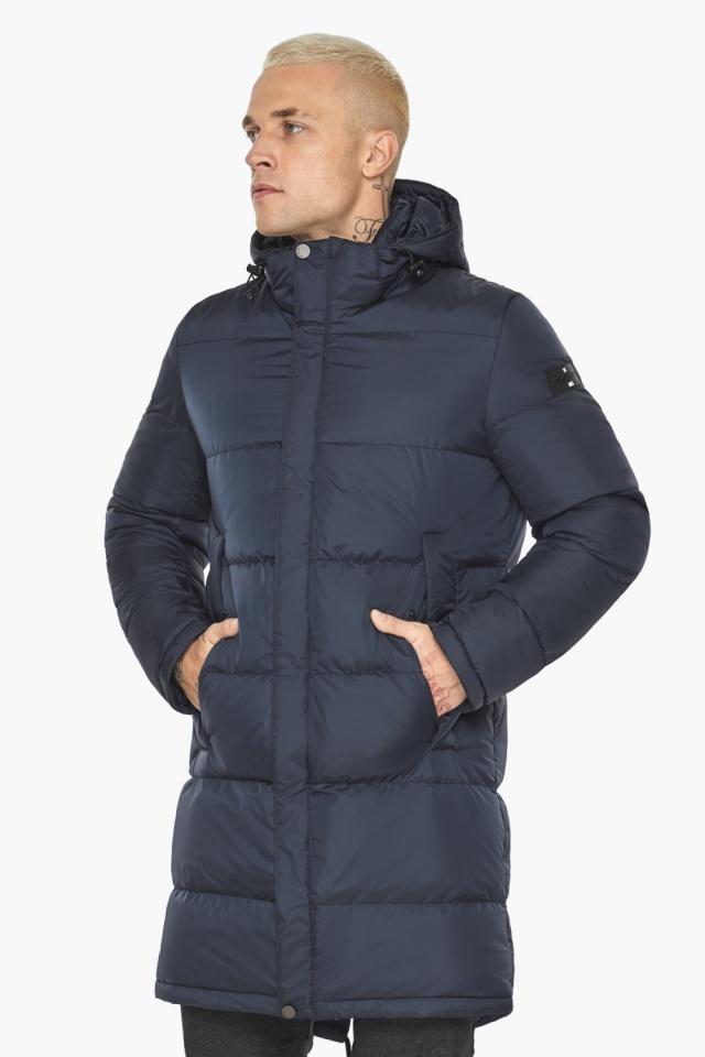 """Куртка мужская зимняя брендовая тёмно-синяя модель 49015 Braggart """"Aggressive"""" фото 3"""