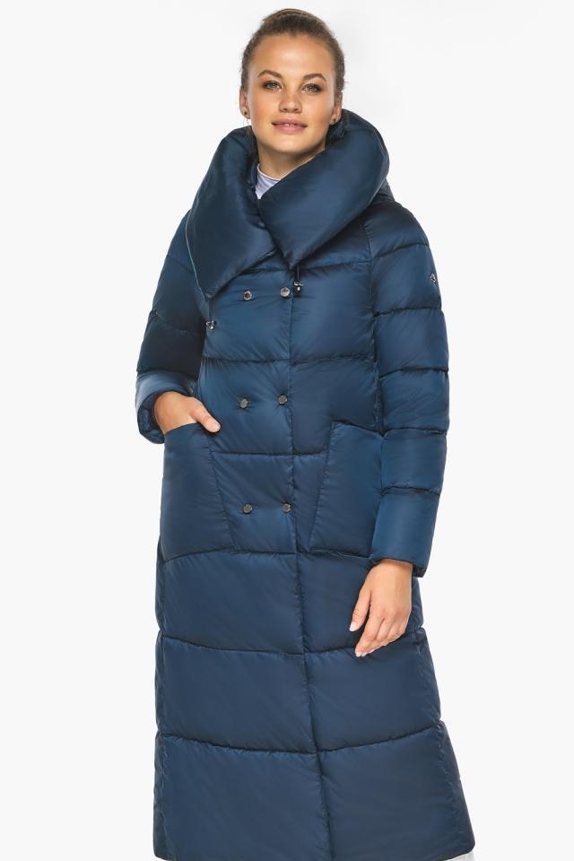 """Куртка сапфировая женская зимняя с манжетами модель 46150 Braggart """"Angel's Fluff"""" фото 5"""