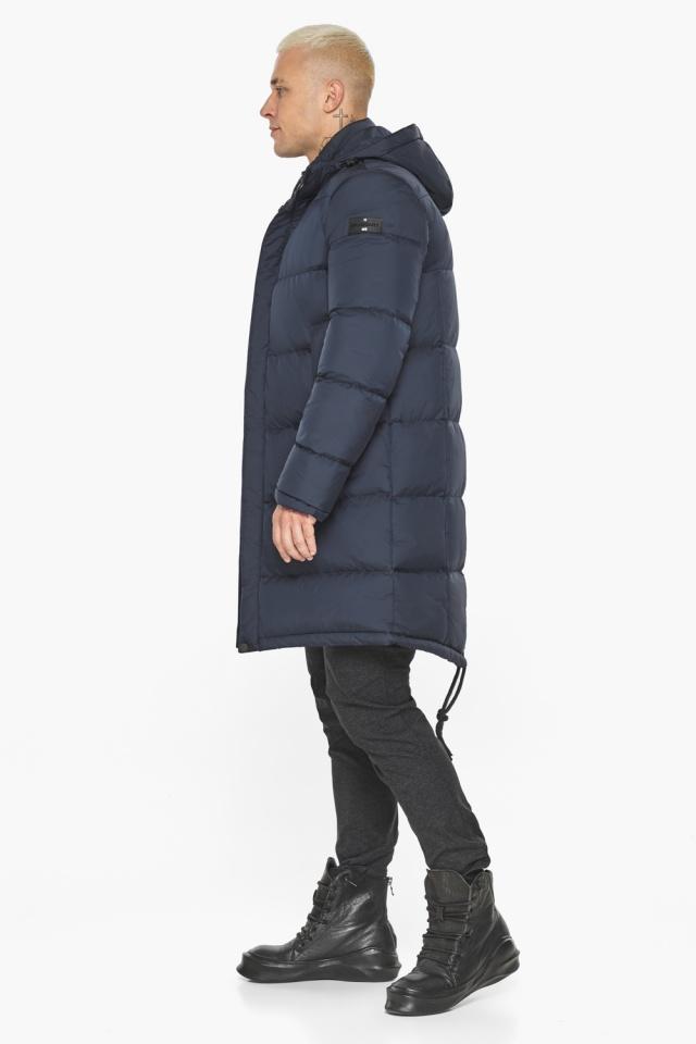 """Куртка мужская зимняя брендовая тёмно-синяя модель 49015 Braggart """"Aggressive"""" фото 7"""
