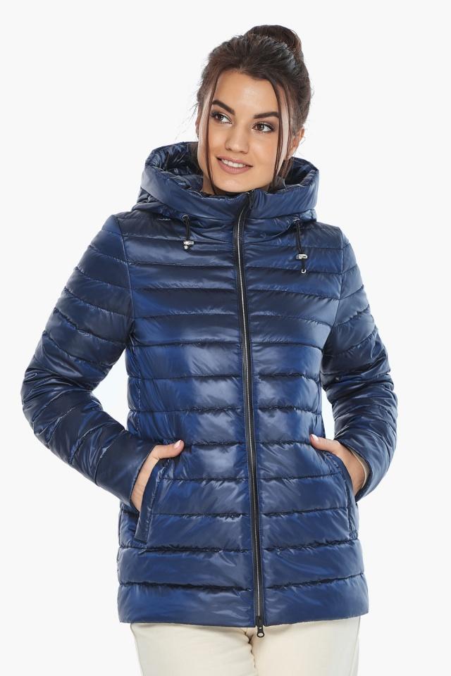 """Куртка стильная женская осенне-весенняя сапфировая модель 68240 Braggart """"Angel's Fluff"""" фото 4"""