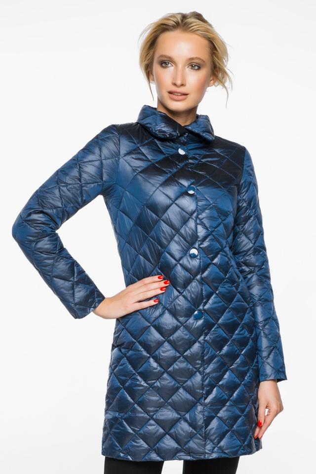 """Куртка жіноча оригінальна осінньо-весняна колір темна блакить модель 20856 Braggart """"Angel's Fluff"""" фото 3"""