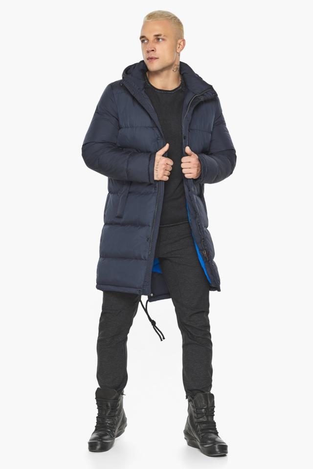 """Куртка мужская зимняя брендовая тёмно-синяя модель 49015 Braggart """"Aggressive"""" фото 6"""
