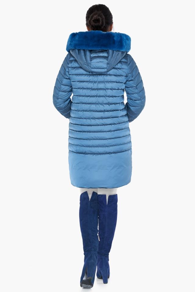 """Куртка аквамариновая женская свободного фасона модель 31038 Braggart """"Angel's Fluff"""" фото 6"""