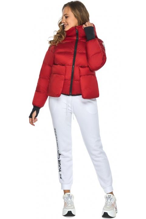 Підліткова рубінова куртка Youth з вишуканої тканини модель 26370 Youth фото 1