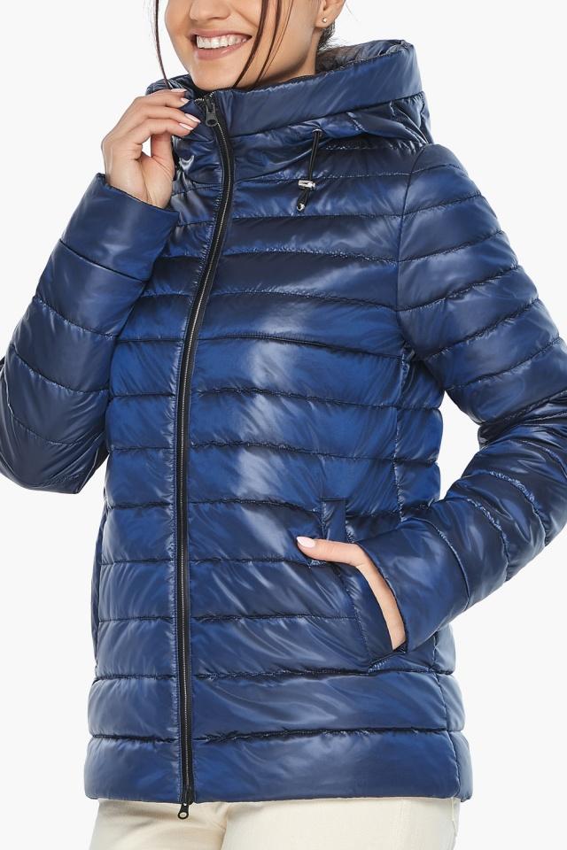 """Куртка стильная женская осенне-весенняя сапфировая модель 68240 Braggart """"Angel's Fluff"""" фото 7"""