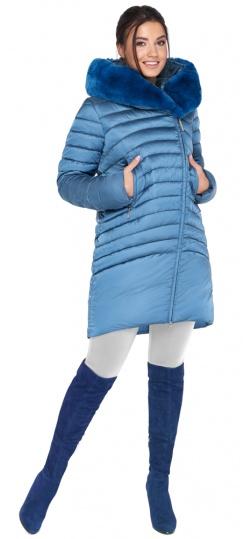 """Куртка аквамариновая женская свободного фасона модель 31038 Braggart """"Angel's Fluff"""" фото 1"""