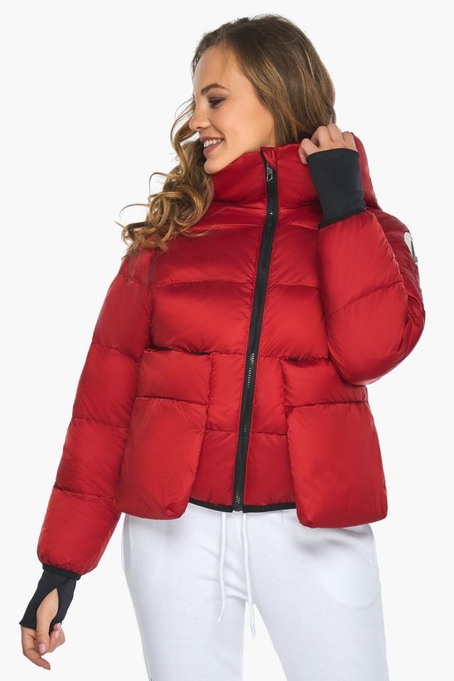 Подростковая рубиновая куртка Youth из изысканной ткани модель 26370 Youth фото 4