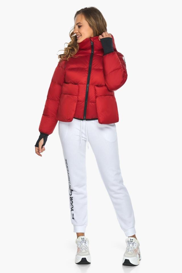 Подростковая рубиновая куртка Youth из изысканной ткани модель 26370 Youth фото 2