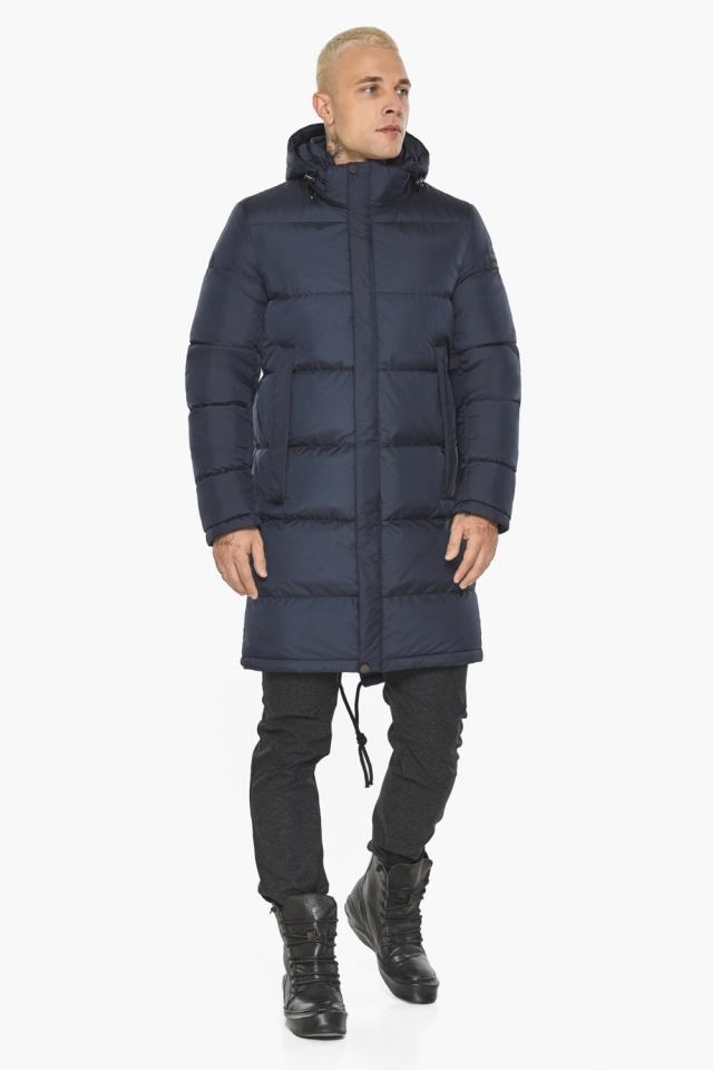 """Куртка мужская зимняя брендовая тёмно-синяя модель 49015 Braggart """"Aggressive"""" фото 2"""