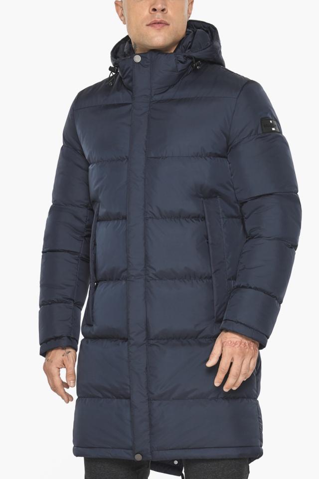 """Куртка мужская зимняя брендовая тёмно-синяя модель 49015 Braggart """"Aggressive"""" фото 9"""