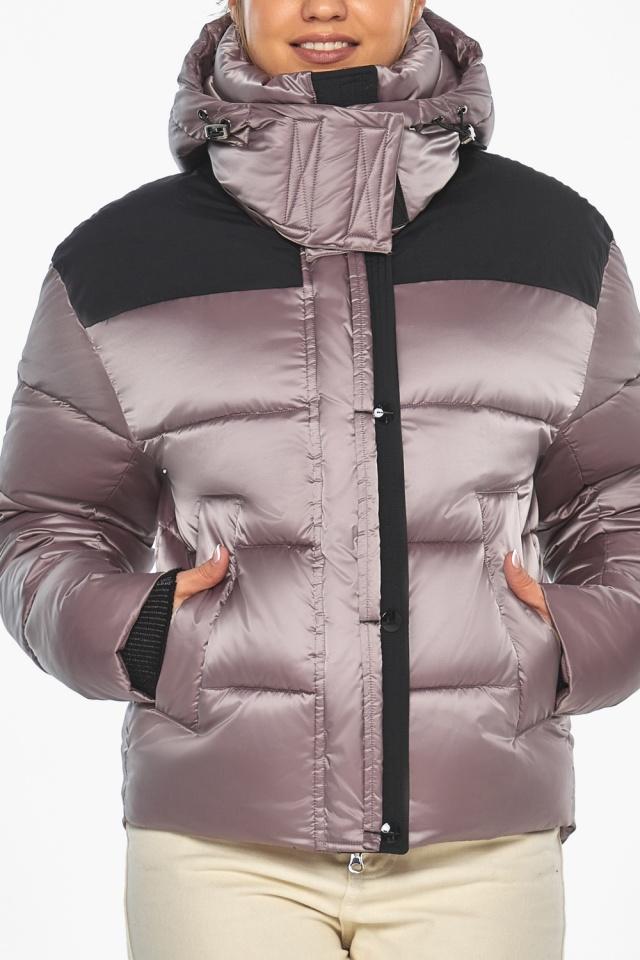 """Куртка пудровая с капюшоном женская зимняя модель 57520 Braggart """"Angel's Fluff"""" фото 6"""