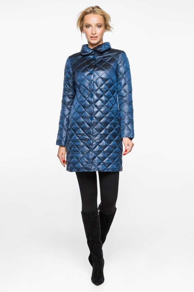 Куртка женская оригинальная осенне-весенняя цвет темная лазурь модель 20856