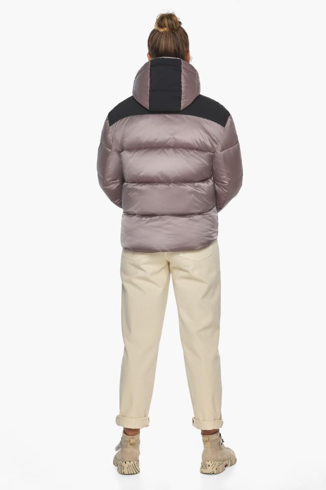 """Куртка пудровая с капюшоном женская зимняя модель 57520 Braggart """"Angel's Fluff"""" фото 5"""