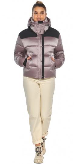 """Куртка пудровая с капюшоном женская зимняя модель 57520 Braggart """"Angel's Fluff"""" фото 1"""