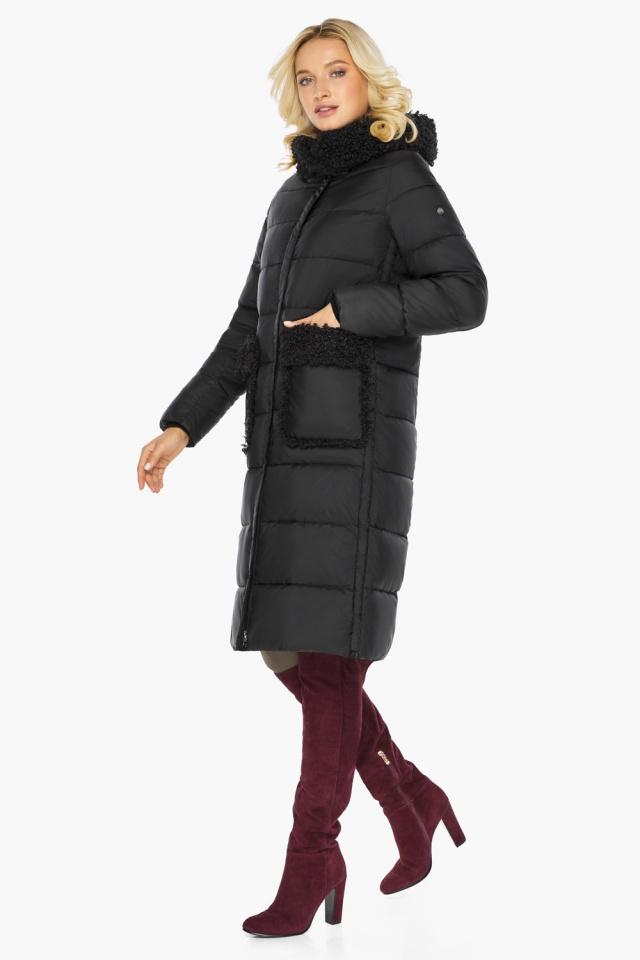 """Женская куртка длинная чёрная на зиму модель 47575 Braggart """"Angel's Fluff"""" фото 6"""