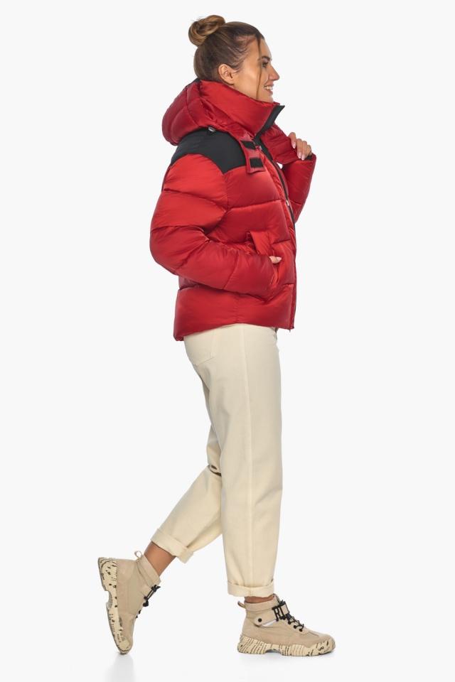 """Рубінова куртка з манжетами жіноча зимова модель 57520 Braggart """"Angel's Fluff"""" фото 6"""