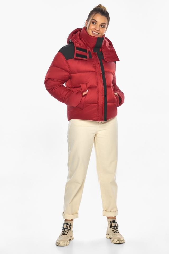 """Рубінова куртка з манжетами жіноча зимова модель 57520 Braggart """"Angel's Fluff"""" фото 2"""