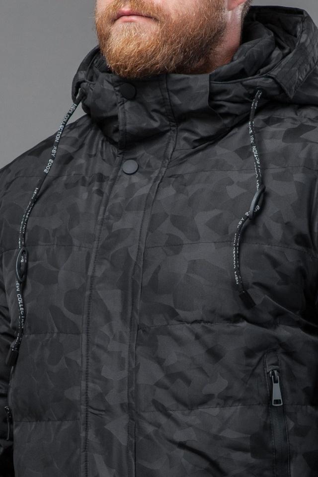 Куртка мужская зимняя дизайнерская цвет черный модель 70118