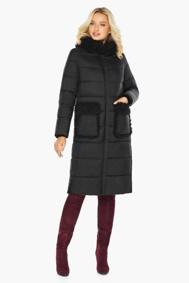 """Женская куртка длинная чёрная на зиму модель 47575 Braggart """"Angel's Fluff"""" фото 5"""