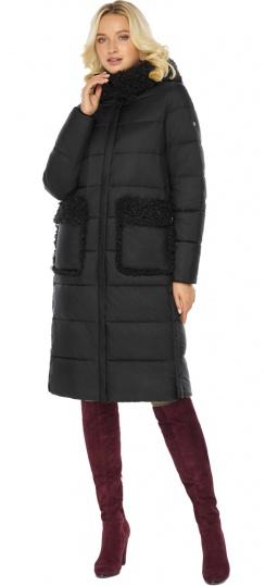"""Женская куртка длинная чёрная на зиму модель 47575 Braggart """"Angel's Fluff"""" фото 1"""