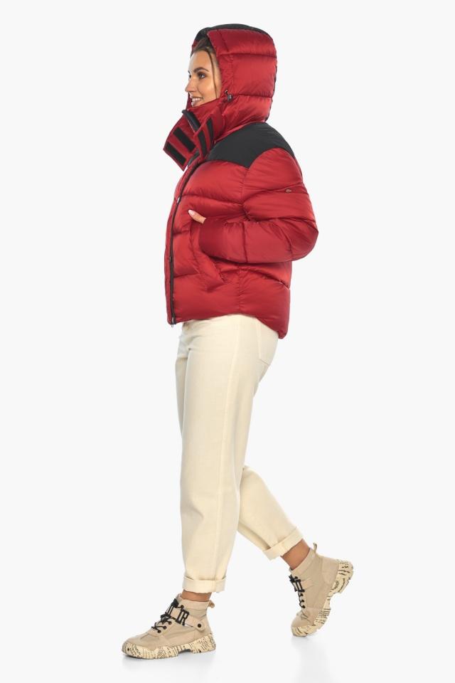 """Рубінова куртка з манжетами жіноча зимова модель 57520 Braggart """"Angel's Fluff"""" фото 4"""