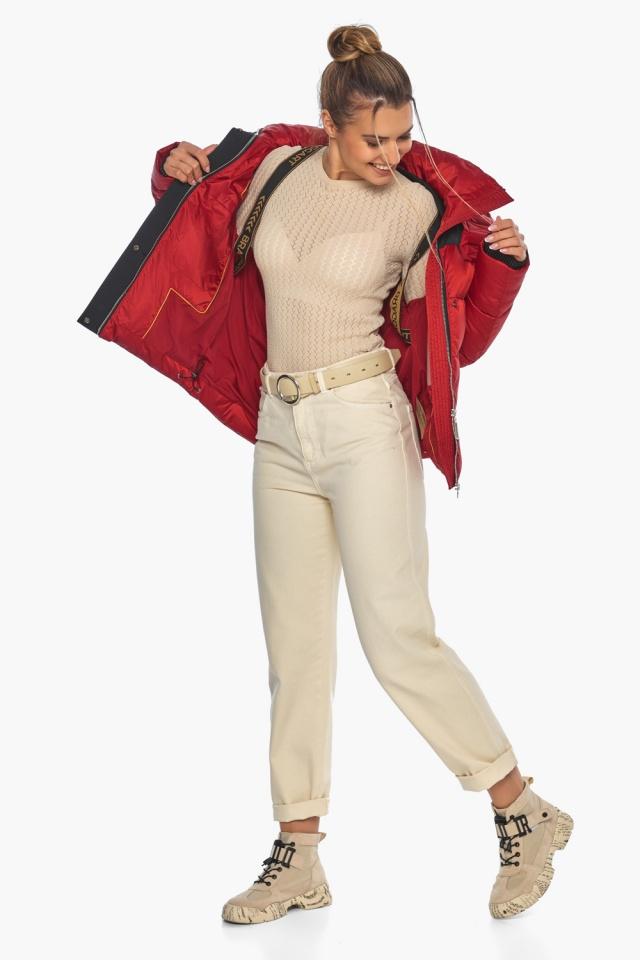 """Рубінова куртка з манжетами жіноча зимова модель 57520 Braggart """"Angel's Fluff"""" фото 3"""