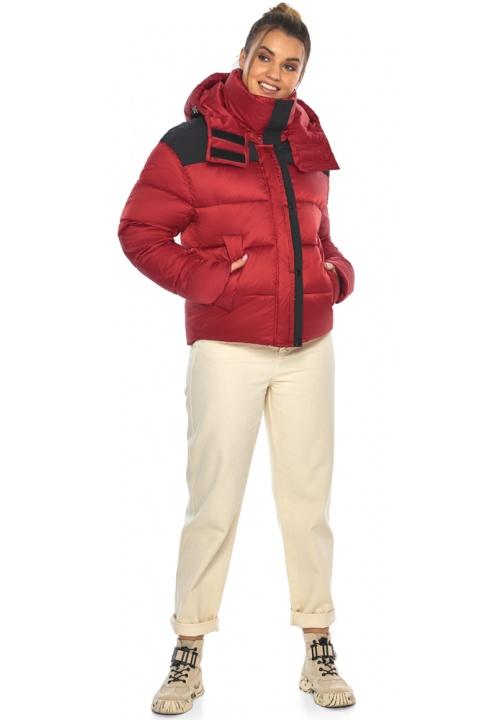 """Рубиновая куртка с манжетами женская зимняя модель 57520 Braggart """"Angel's Fluff"""" фото 1"""
