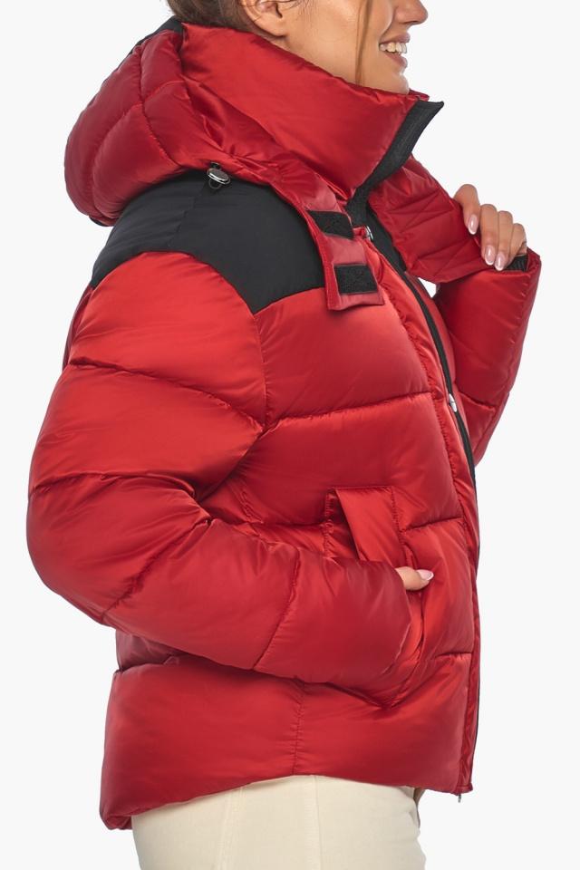 """Рубінова куртка з манжетами жіноча зимова модель 57520 Braggart """"Angel's Fluff"""" фото 8"""