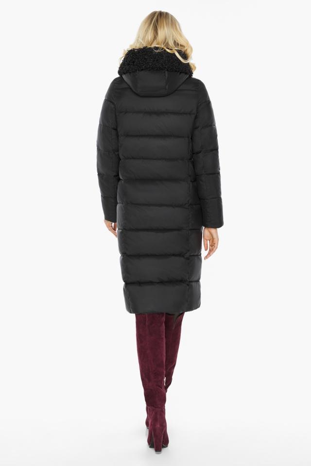 """Женская куртка длинная чёрная на зиму модель 47575 Braggart """"Angel's Fluff"""" фото 8"""