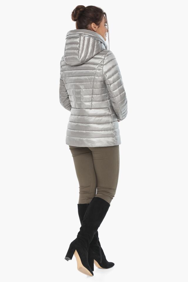 """Фирменная женская куртка цвет перламутровый светло-серый модель 63045 Braggart """"Angel's Fluff"""" фото 6"""