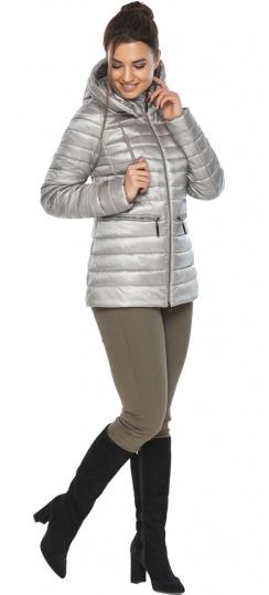 """Фірмова жіноча куртка колір перламутровий світло-сірий модель 63045 Braggart """"Angel's Fluff"""" фото 1"""