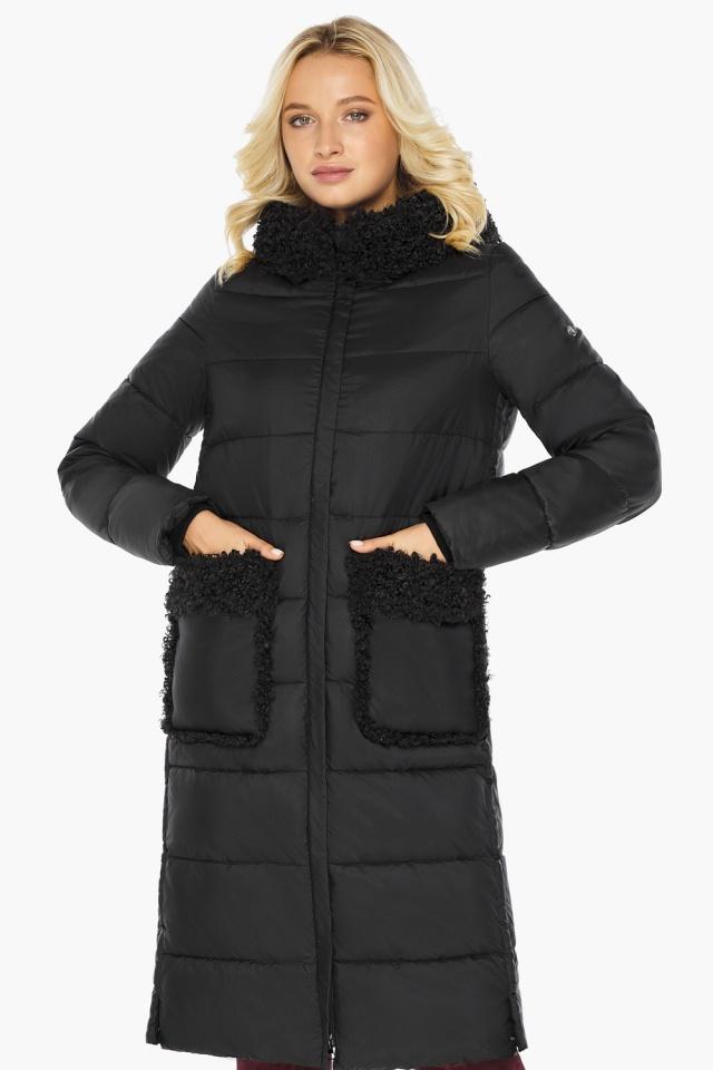 """Женская куртка длинная чёрная на зиму модель 47575 Braggart """"Angel's Fluff"""" фото 4"""