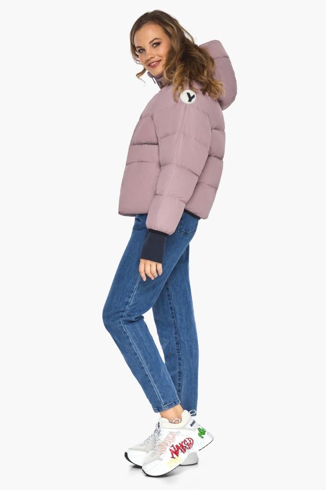Куртка из дизайнерского полотна на подростка девочку пудровая модель 26370 Youth фото 3