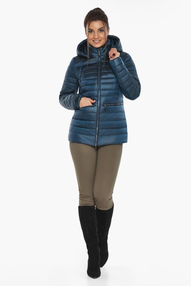 """Куртка женская стильная цвет темная лазурь модель 63045 Braggart """"Angel's Fluff"""" фото 2"""