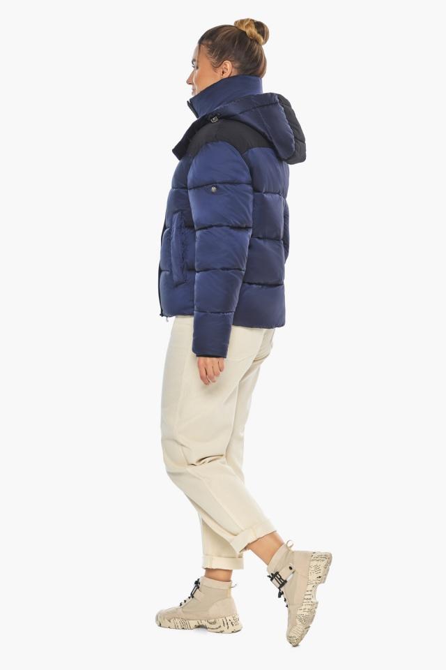"""Сапфировая куртка с фирменной фурнитурой женская зимняя модель 57520 Braggart """"Angel's Fluff"""" фото 3"""