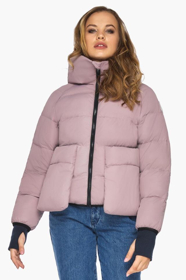 Куртка из дизайнерского полотна на подростка девочку пудровая модель 26370 Youth фото 4