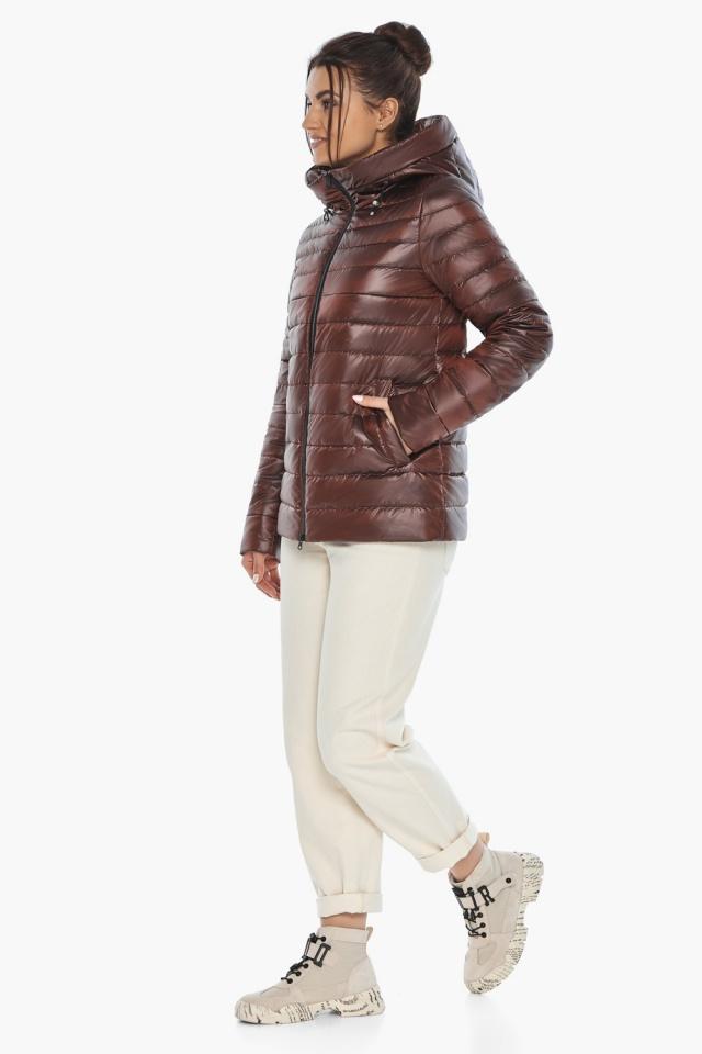 """Осенне-весенняя куртка женская оригинальная каштановая модель 68240 Braggart """"Angel's Fluff"""" фото 5"""