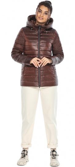 """Осенне-весенняя куртка женская оригинальная каштановая модель 68240 Braggart """"Angel's Fluff"""" фото 1"""