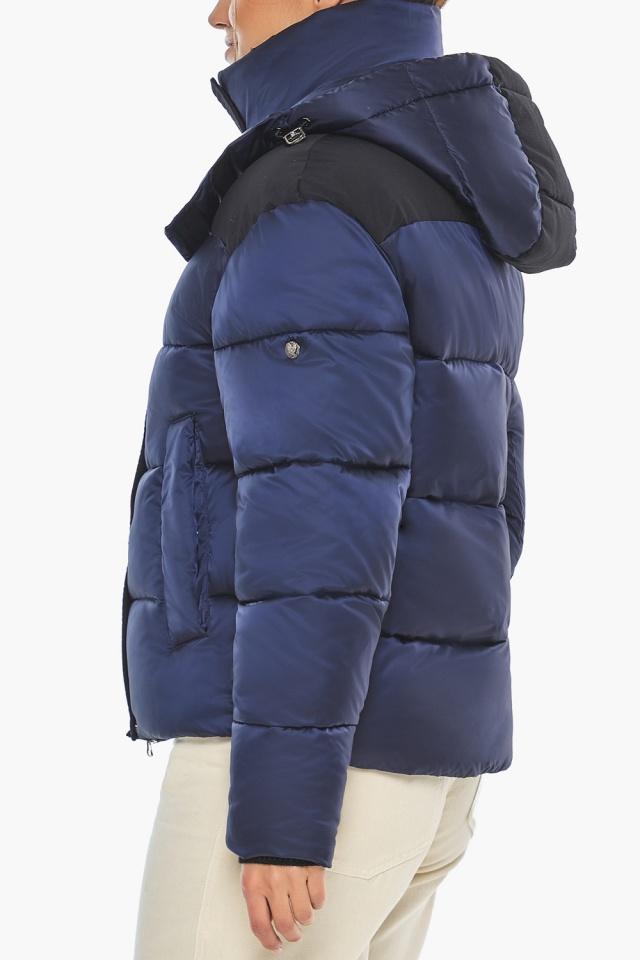 """Сапфировая куртка с фирменной фурнитурой женская зимняя модель 57520 Braggart """"Angel's Fluff"""" фото 6"""