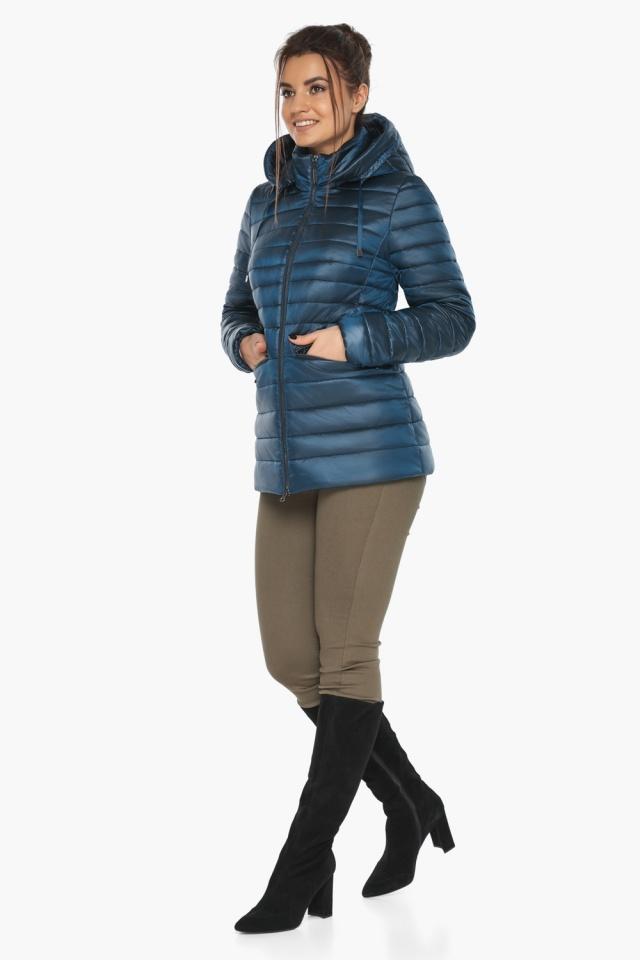 """Куртка женская стильная цвет темная лазурь модель 63045 Braggart """"Angel's Fluff"""" фото 6"""